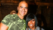 Hamilton - Backstage - 9/15 - Christopher Jackson and Missy Elliott