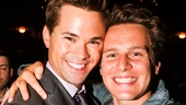Hamilton - Backstage - 9/15 - Andrew Rannells and Jonathan Groff
