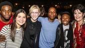 Hamilton - backstage - 9/15 - Okieriete Onaodowan, Phillipa Soo, Cate Blanchett, Leslie Odom Jr, Cynthia Erivo and Lucie Arnaz