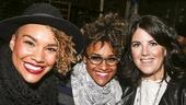 Hamilton - backstage - 9/15 - Emmy Raver Lampman, Ariana DeBose and Monica Lewinsky