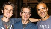 Hamilton - backstage - 10/15 - Jonathan Groff, Former White House Secretary Jay Carney and Christopher Jackson
