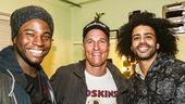 Hamilton - backstage - 10/15 - Okieriete Onaodowan, Matthew McConaughey and Daveed Diggs