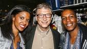 Hamilton - backstage - 10/15 - Renee Elise Goldsberry, Bill Gates and Leslie Odom Jr