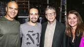 Hamilton - backstage - 10/15 - Christopher Jackson, Lin-Manuel Miranda, Bill Gates and wife Melinda Gates
