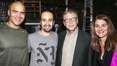 Hamilton - backstage - 10/15 - Christopher Jackson, Lin-Manuel Miranda, Bill Gates and wife Melinda Gates