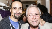 Hamilton - backstage - 10/15 - Composer Lin-Manuel Miranda and Composer Alan Menken