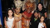 Johan Santana at Lion King - Johan Santana - wife Yasmile - daughters - Dashaun Young - Kissy Simmons