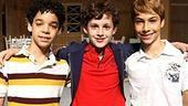 Billy Elliot cast meet and greet - David Alvarez - Trent Kowalik - Kiril Kulish