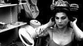 Sutton Foster backstage at Shrek – crown