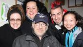 Steven Spielberg and Hugh Jackman Go Green at Shrek the Musical – Steven Spielberg – Lisa Ho – Aymee Garcia - Jennifer Simard - John Clancy - Steven Spielberg