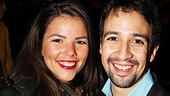 Lin-Manuel Miranda and his wife Vanessa Nadal-Miranda must feel at home at the Richard Rodgers Theatre, where his Tony-winning hit In the Heights had a healthy run.