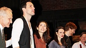 David Patrick Kelly, Steve Kazee, Cristin Milioti, Ripley Sobo, Elizabeth A. Davis and David Abeles can't contain their opening night smiles.