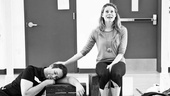 Peter and the Starcatcher Rehearsal – Celia Keenan-Bolger – David Rossmer sleeping