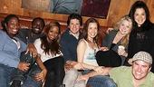 Between studio sessions stars Virginia Ann Woodruff,  Lynorris Evans, Krystal Joy Brown, Louis Hobson, Michell Duffy, Kendra Kassebaum, Lucia Giannetta and Danny Stiles get cozy on the couch.
