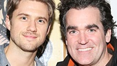 Aaron Tveit reunites with his former Next to Normal onstage dad, Brian d'Arcy James, who is now playing Banquo in Macbeth.