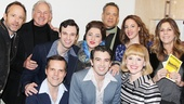 Stage and screen favorites John Benjamin Hickey and Victor Garber join Tom Hanks and Rita Wilson for a group shot with the cast. See Beautiful at the Stephen Sondheim Theatre!