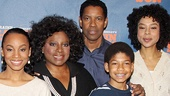 Meet the Younger family! A Raisin in the Sun stars Anika Noni Rose, LaTanya Richardson Jackson, Denzel Washington, Bryce Clyde Jenkins and Sophie Okonedo line up for a family photo.
