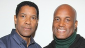 A Raisin in the Sun star Denzel Washington takes a snapshot with his pal, director Kenny Leon.