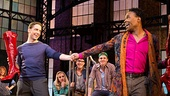 Andy Kelso as Charlie Price, Billy Porter as Lola & the cast of Kinky Boots