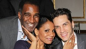 Lady Day star Audra McDonald pulls two Javerts in for a photo—her former Porgy and Bess co-star Norm Lewis and her real-life love Will Swenson!