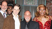 The cast rallies around the Piano Man. Catch Kinky Boots at the Al Hirschfeld Theatre!