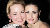If/Then hairstylist JT Franchuk with Idina Menzel.