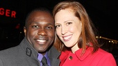 Violet star Joshua Henry and his wife Cathryn Stringer.