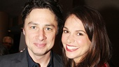 Trust reunion! Bullets star Zach Braff and Violet's Sutton Foster catch up.