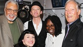 After the show, James Earl Jones, Whoopi Goldberg and Richard Chamberlain greet Hedwig stars Neil Patrick Harris and Lena Hall backstage.