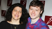 Mothers and Sons director Sheryl Kaller and star Bobby Steggert.