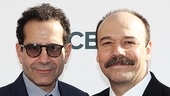 Tony nominees unite! Act One star Tony Shalhoub strikes a pose with Cabaret's Danny Burstein.