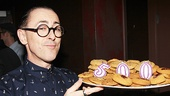 Cabaret star Alan Cumming shows off some celebratory cookies.