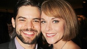 Jeremy Jordan celebrates opening night with wife Ashley Spencer, a vet of Broadway shows like Rock of Ages and Grease
