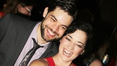 Stars, they're just like us! Jeremy Jordan and Laura Michelle Kelly snap a selfie at the party.