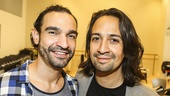 Hamilton - rehearsal - 6/15 - Javier Munoz - Lin-Manuel Miranda