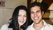 Fun Home - backstage - 7/15 - Laura Prepon and Joel Perez