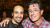 Hamilton - backstage - 8/15 - Lin-Manuel Miranda - Stephen Colbert