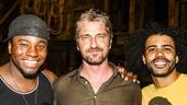 Hamilton - backstage - 9/15 - Okieriete Onaodowan, Gerard Butler and David Diggs