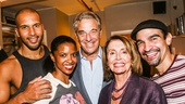 Hamilton - backstage - 9/15 - Sydney James Harcourt, Renee Elise Goldsberry, Paul Pelosi, Nancy Pelosi and Javier Munoz