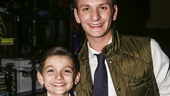School of Rock - First Preview - Original Film Stars - Backstage - 11/15 - Brian Falduto and Luca Padovan