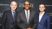 Hughie - Opening - 2/16 - GETTY - Frank Wood and Forest Whitaker pose with director Michael Grandage