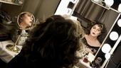 Elizabeth Ashley backstage at August: Osage County – wig on