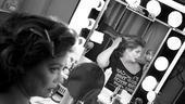 Elizabeth Ashley backstage at August: Osage County – checking out