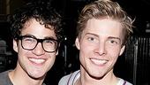 Darren Criss & Justin Kirk Backstage at Godspell – Darren Criss – Hunter Parrish