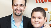 In the Heights star Lin-Manuel Miranda is accompanied by his godson Miguel.