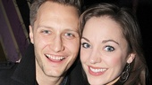 The Threepenny Opera star Laura Osnes and her husband, photographer Nathan Johnson, relax backstage.