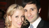 Caissie Levy and her husband David Reiser take an adorable opening night photo.