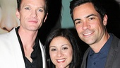 Neil Patrick Harris with Law and Order: SVU star Danny Pino and his wife Lilly (c).