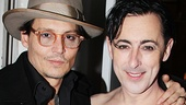 Oscar nominee Johnny Depp hangs out backstage with Alan Cumming after the show.