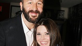 Of Mice and Men star Chris O'Dowd and A Night with Janis Joplin's Mary Bridget Davies take a sweet snapshot.